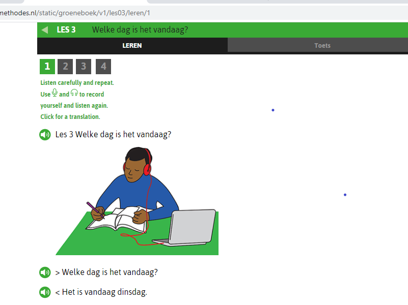 the e-learning pushes me to learn Dutch with online live conversations